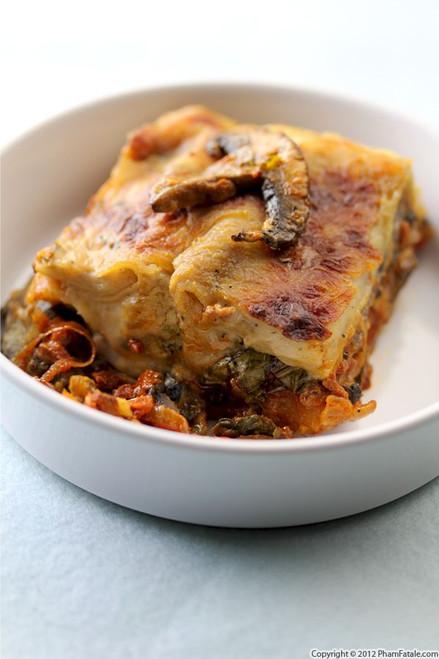 Mushroom Lasagna - (Free Recipe below)