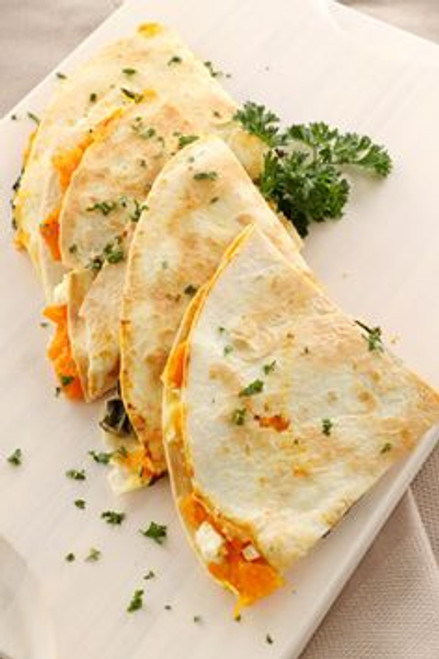 Caramelized Peach and Brie Quesadilla with Honey - (Free Recipe below)