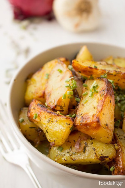 Roasted Potatoes with Onions & Herbs - (Free Recipe below)