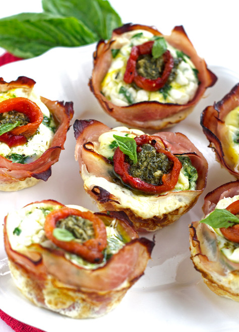 MEDITERRANEAN HAM AND EGG CUPS - (Free Recipe below)