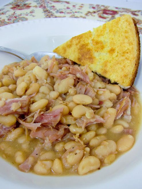Ham & White Beans Soup - (Free Recipe below)