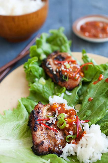 Korean B.B.Q. Chicken (Dak Gogi) - (Free Recipe below)