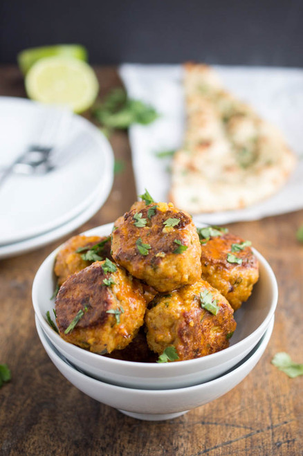 THAI RED CURRY CHICKEN MEATBALLS - (Free Recipe below)