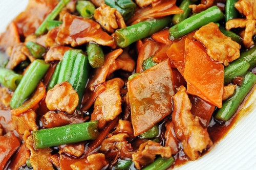 Chicken with Asparagus and Almonds - (Free Recipe below)