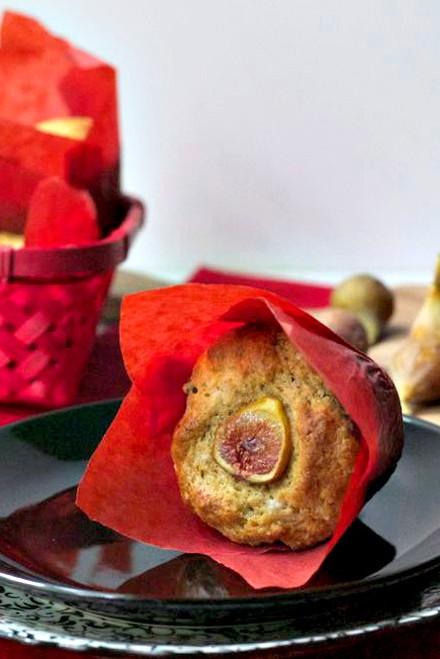 Honeyed Fig and Goat Cheese Muffins - One Dozen w/ recipe below