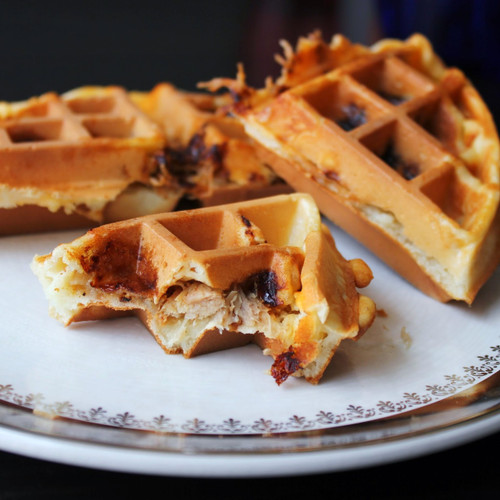 Pulled Pork Stuffed Waffles - (Free Recipe below)