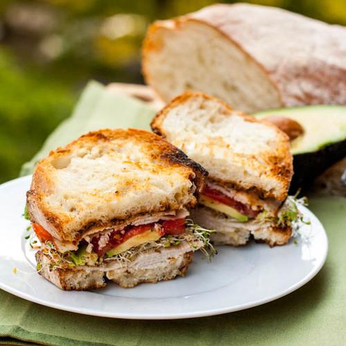 TURKEY, AVOCADO & ALFALFA SPROUTS SANDWICH - (Free Recipe below)