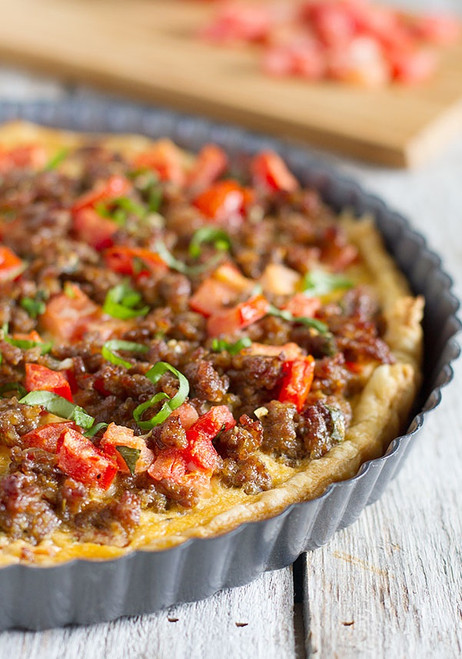 Italian Sausage Breakfast Pie - (Free Recipe below)