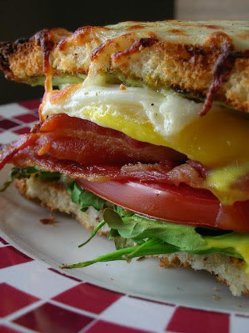 Bacon, Egg, Lettuce & Tomato Breakfast Sandwich - (Free Recipe below)
