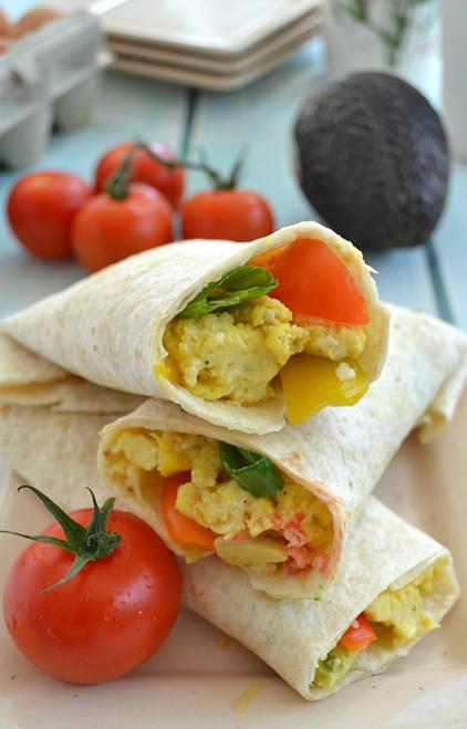 Loaded Veggie Breakfast Wraps - (Free Recipe below)