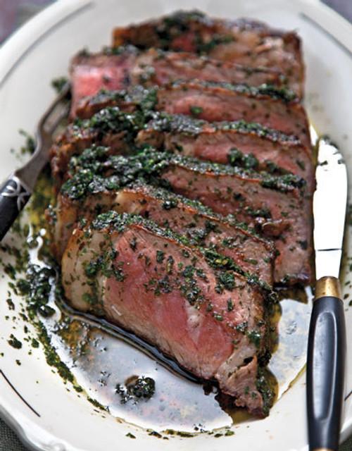 Steak with Herb Sauce - (Free Recipe below)