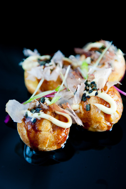 Takoyaki - Seafood puff crepe balls - (Free Recipe below)