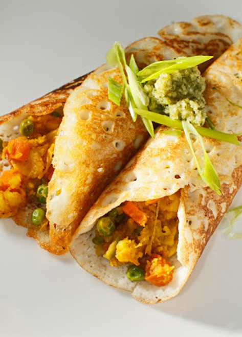 Dosa Crispy Indian Rice Crepes - (Free Recipe below)