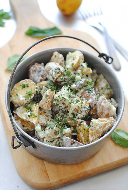 Herbed Lemon Fingerling Potato Salad - (Free Recipe below)