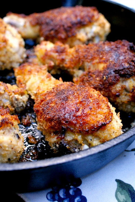 Oven Fried Panko Crusted Chicken Drumsticks - (Free Recipe below)