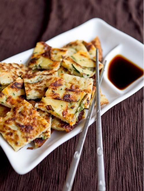 Korean Zucchini Vegetable Pancakes - (Free Recipe below)