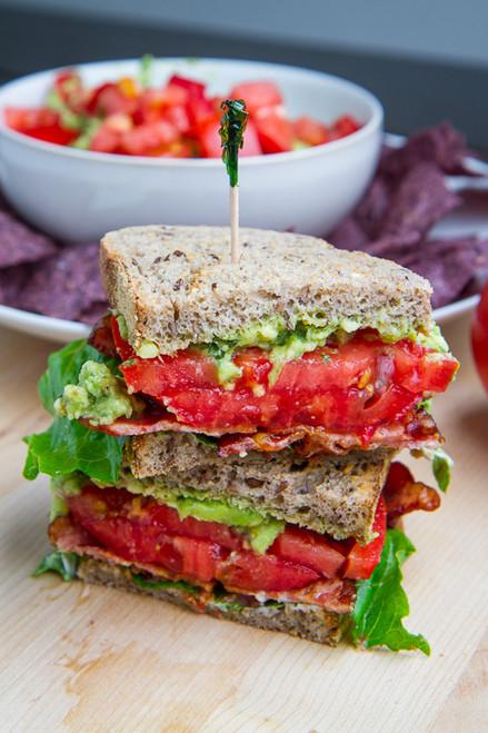 Pesto Guacamole BLT Sandwich - (Free Recipe below)