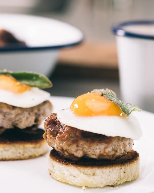 Honeyed Waffled Sausage Toasts - (Free Recipe below)