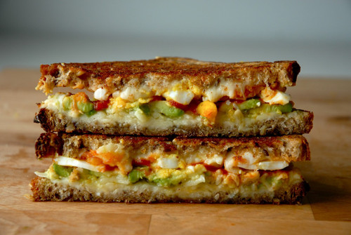 Avocado, Egg & Sriracha Grilled Cheese - (Free Recipe below)