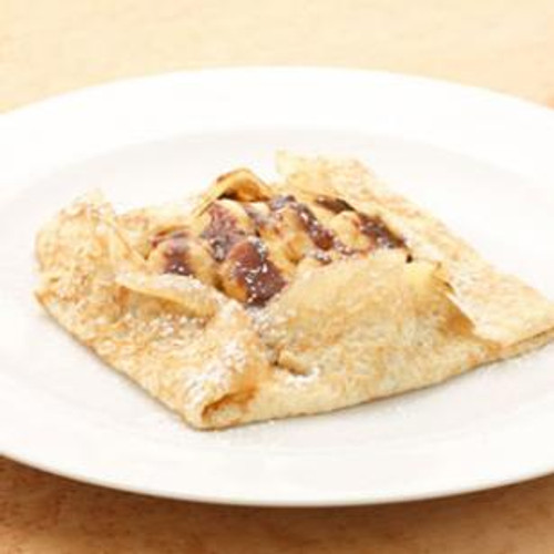 Banana-Caramel Crepes with Nutella - (Free Recipe below)