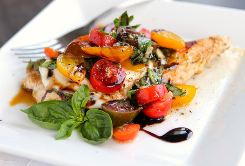 Caprese Pesto Grilled Chicken - (Free Recipe below)