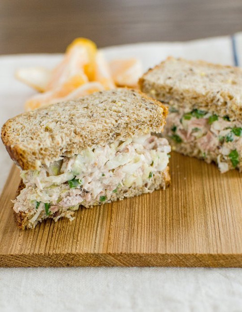 Crisp Tuna Cabbage Salad Sandwich - (Free Recipe below)