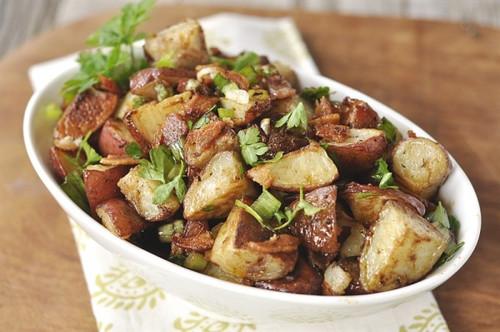 Balsamic Roasted Potato Salad - (Free Recipe below)