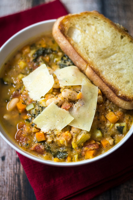 Rustic Tuscan Bean Soup - (Free Recipe below)