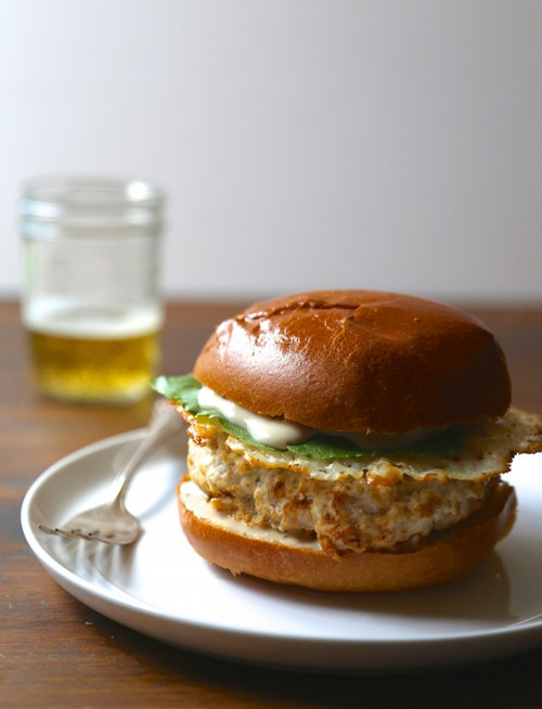 Chicken Caesar Burger With Parmesan Crisps - (Free Recipe below)
