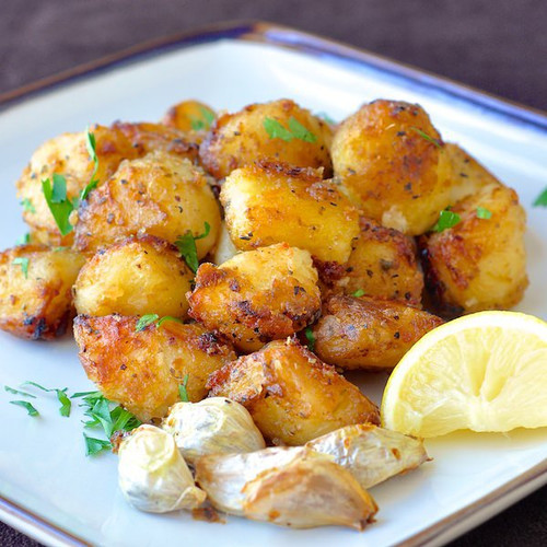 Lemon Herb Roasted Potatoes - (Free Recipe below)