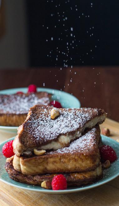 Mascarpone Stuffed Chocolate Espresso French Toast - (Free Recipe below)