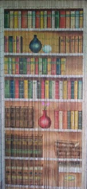 Bookcase Library Bamboo Beaded Curtain