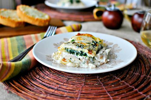 White Cheese & Chicken Lasagna - (Free Recipe below)