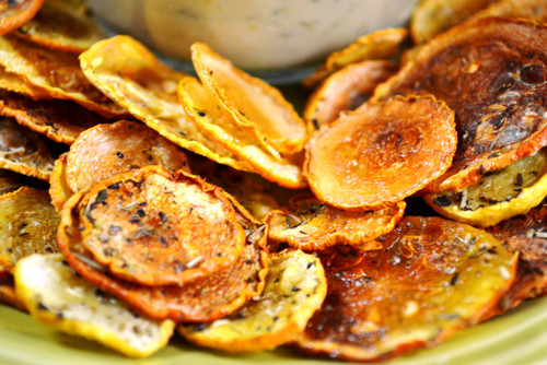 Oven Baked Squash Chips - (Free Recipe below)