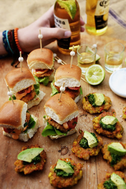 Fish Sliders w/ Paprika Mayo & Sweet Potato Fries - (Free Recipe below)