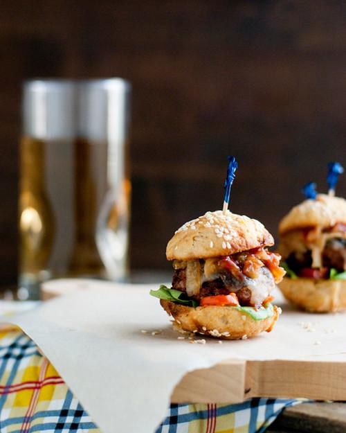 Turkey Meatball Sliders with Caramelized Onions - (Free Recipe below)