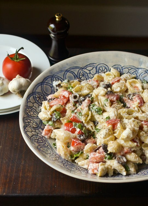 Roasted Garlic, Olive and Tomato Pasta Salad - (Free Recipe below)