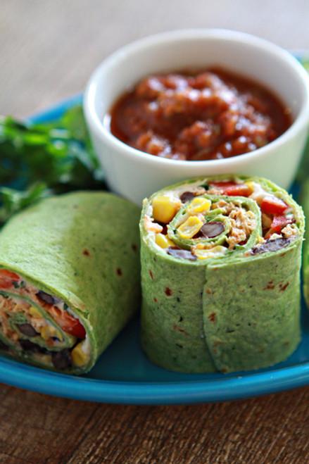 Queso Fresco Chipotle Chicken and Veggie Wrap - (Free Recipe below)