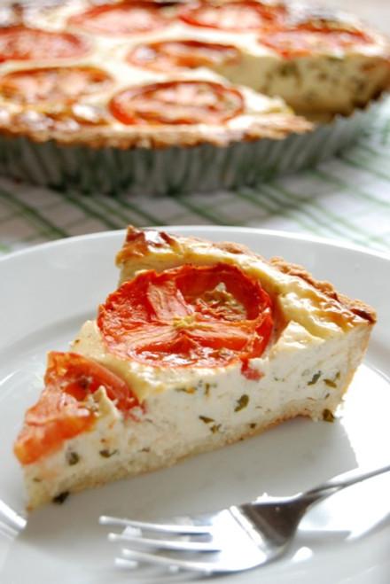 Tomato, Basil Pie with Parmesan Rosemary Crust  GF - (Free Recipe below)