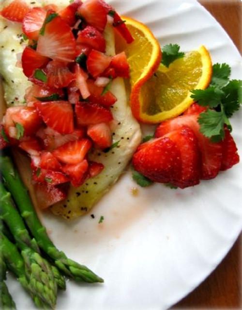 Orange Roughy Fish with Strawberry Salsa - (Free Recipe below)