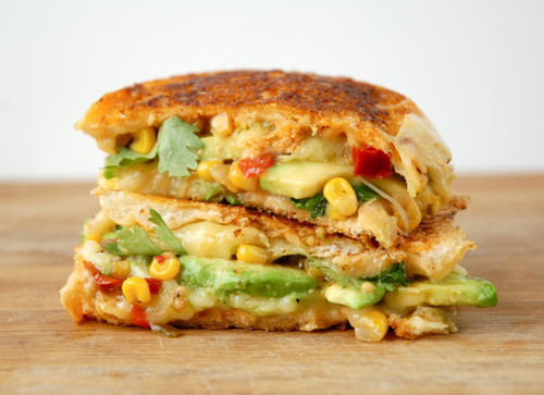 Torta Grilled Cheese with Chipotle Aoili & Corn Relish - (Free Recipe below)