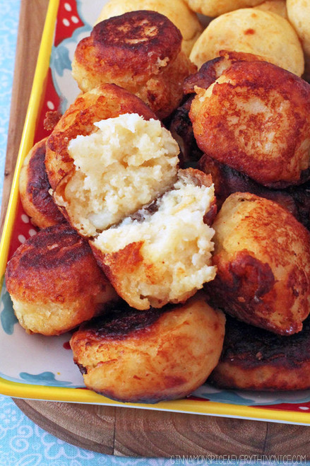 PARMESAN POTATO PUFFS - (Free Recipe below)