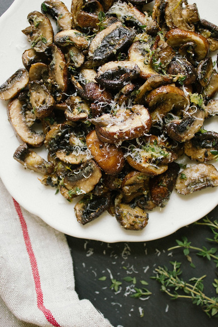 Baked Lemon and Thyme Mushrooms - (Free Recipe below)