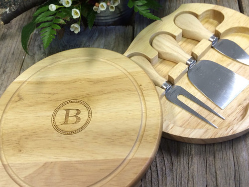 Brie Cheese Board Set - Personalized