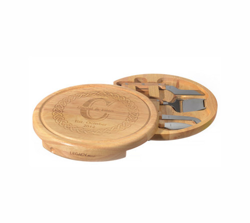Luxe Personalized Cheese Serving Board Set
