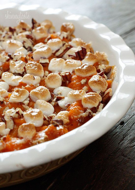 Skinny Sweet Potato Casserole - (Free Recipe below)