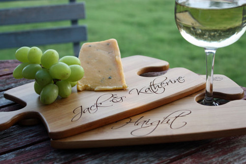 Set of 2 Personalize Puzzle Cheese Cutting Serving Board