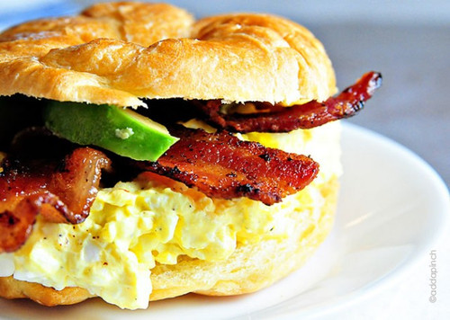 EGG SALAD SANDWICH WITH BACON AND AVOCADO - (Free Recipe below)