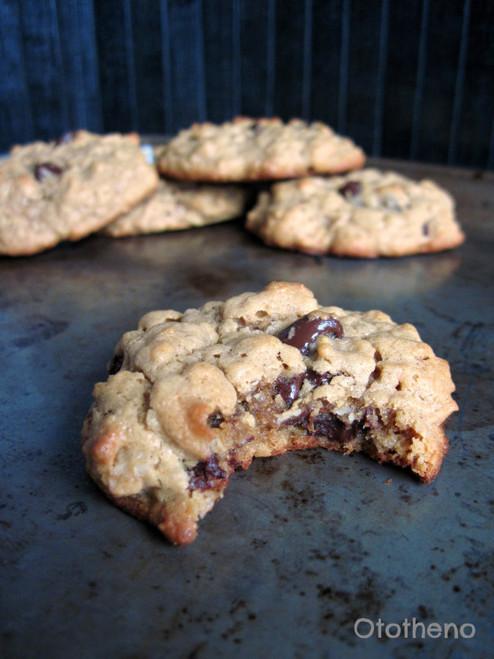 Peanut Butter Oatmeal Chocolate Chip Cookies (GF, DF ) - (Free Recipe below)
