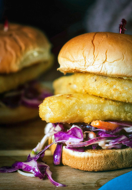 Pub Style Cod Sliders with Red Slaw - (Free Recipe below)
